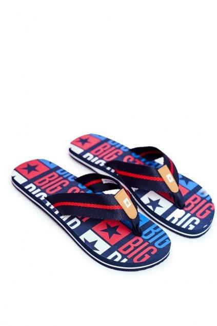 Pánske žabky farba modrá kód obuvi FF174484 NAVY