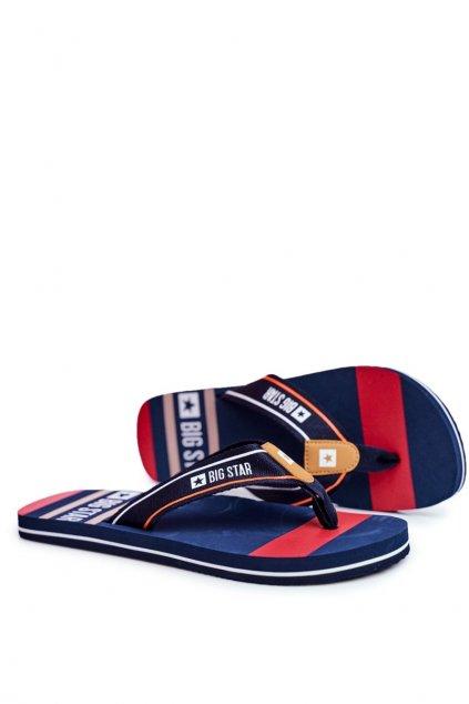 Pánske žabky farba modrá kód obuvi FF174459 NAVY