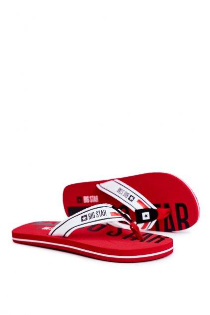 Pánske žabky farba červená kód obuvi FF174451 RED