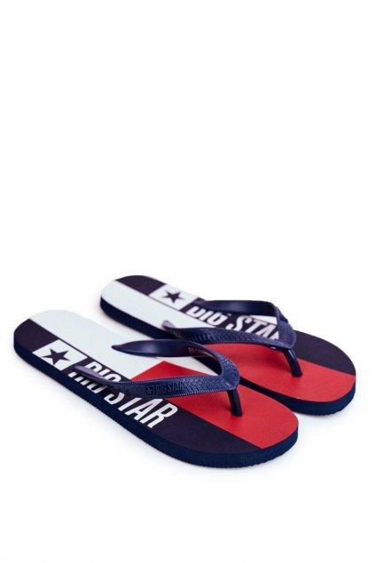 Pánske žabky farba modrá kód obuvi FF174454 NAVY