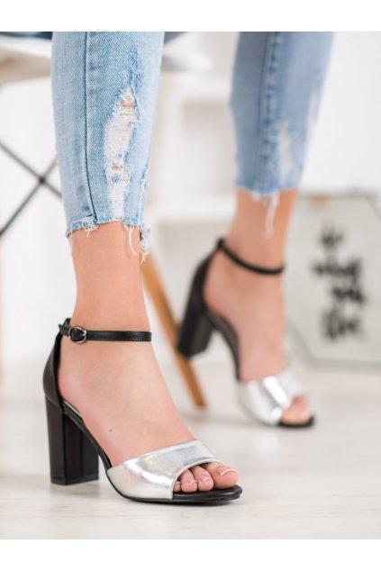 Sivé sandále Small swan kod TS21S