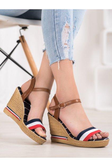 Viacfarebné sandále na platforme Yes mile kod 9S0356N