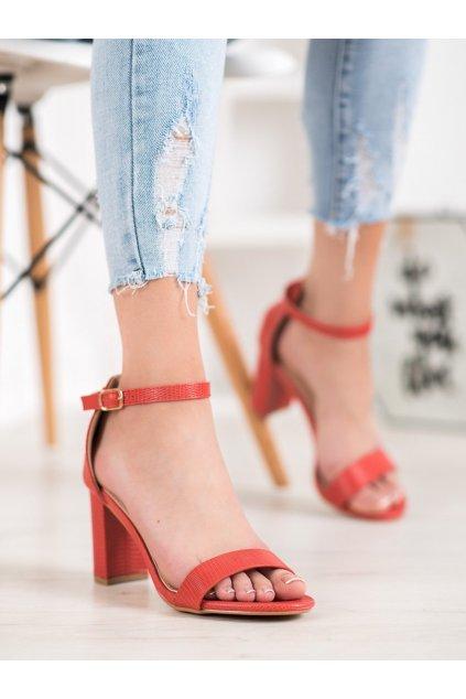 Červené sandále Small swan kod YC-150R