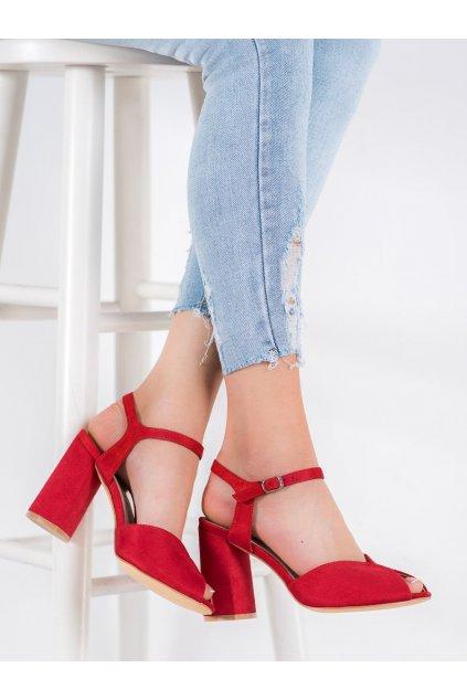 Červené sandále na podpätku Filippo kod DS1282/20R