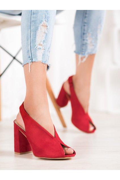 Červené sandále na podpätku Filippo kod DS1292/20R