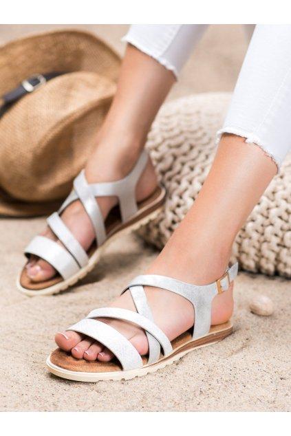 Biele sandále Evento kod 20SD14-2064W