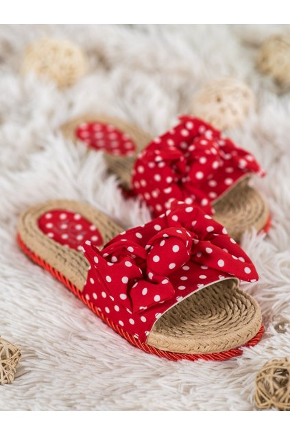 Červené topánky Small swan kod MM49LU.R