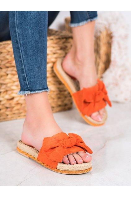 Oranžové šľapky Small swan kod MM49OR