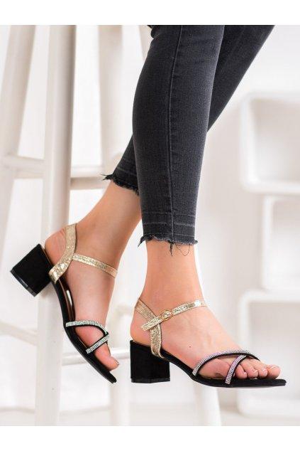 Zlaté sandále na podpätku Small swan kod PH8053GO