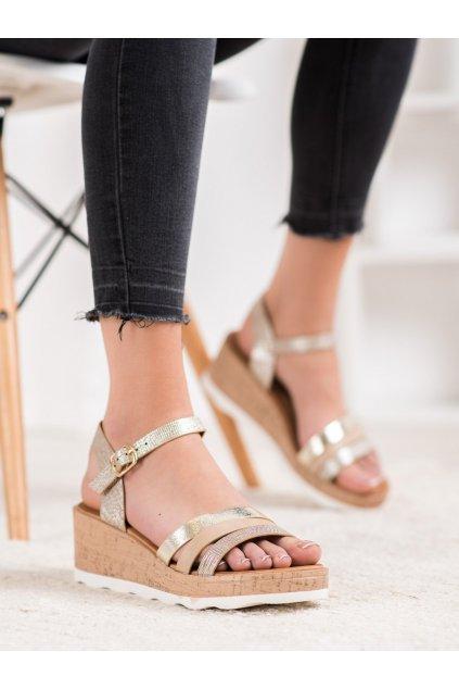 Žlté sandále Weide kod Y612BE