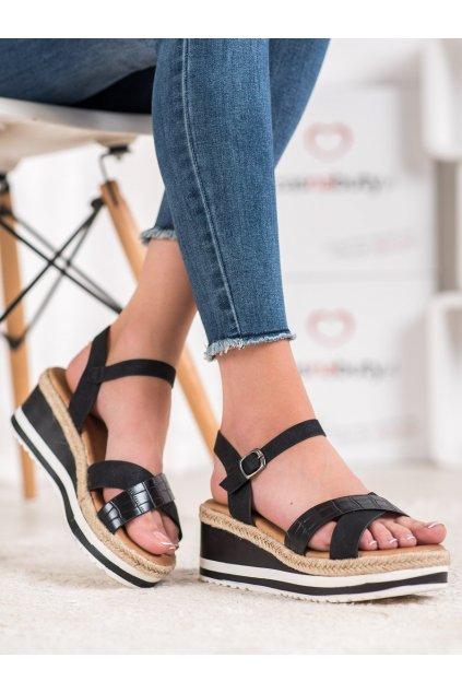 Čierne sandále na platforme Weide kod Y606B/