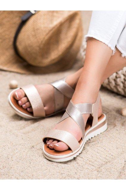 Žlté sandále Weide kod Y658CH