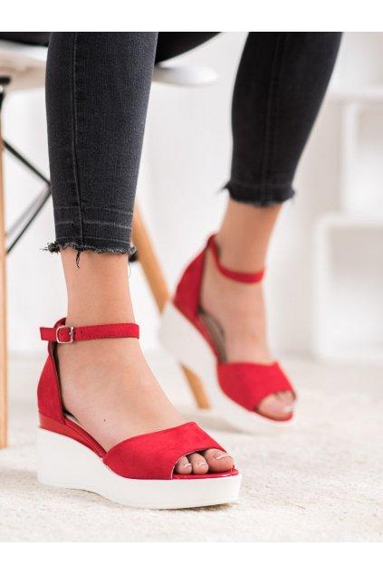 Červené sandále na platforme Weide kod Y617R