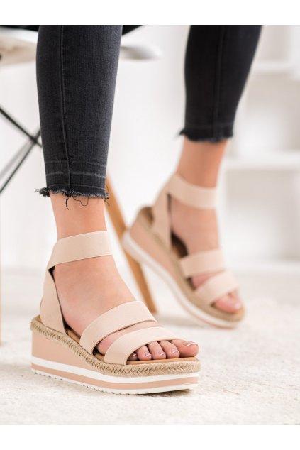 Hnedé sandále Weide kod Y613C