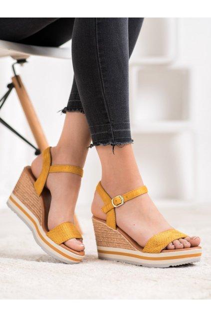 Žlté sandále na platforme Weide kod HL71-35Y