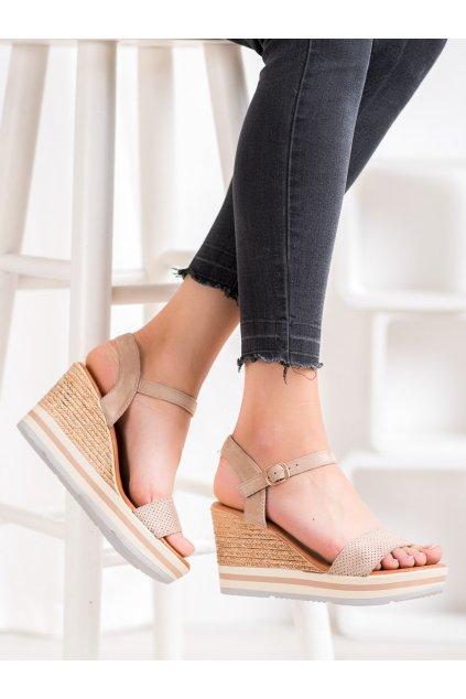 Hnedé sandále Weide kod HL71-35BE