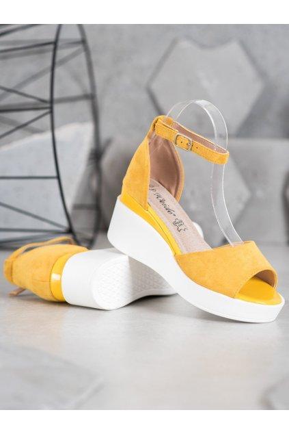 Žlté sandále na platforme Weide kod Y617Y