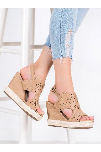 Hnedé sandále Shelovet kod LL919KH