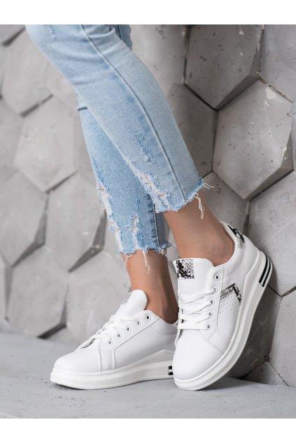 Biele tenisky Shelovet NJSK R14YD4799-1SN
