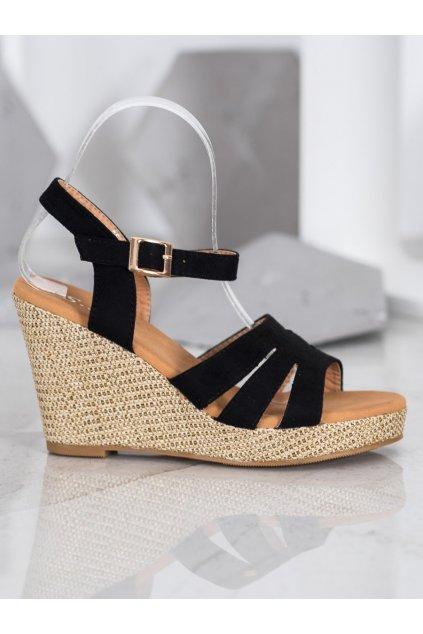 Čierne sandále Small swan NJSK BL-20B