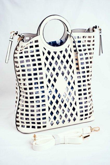 Dámska kabelka biela kód kabelky NBAG-I3680-C000 WHITE