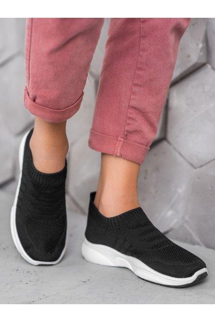 Čierne tenisky Sweet shoes NJSK L8039B