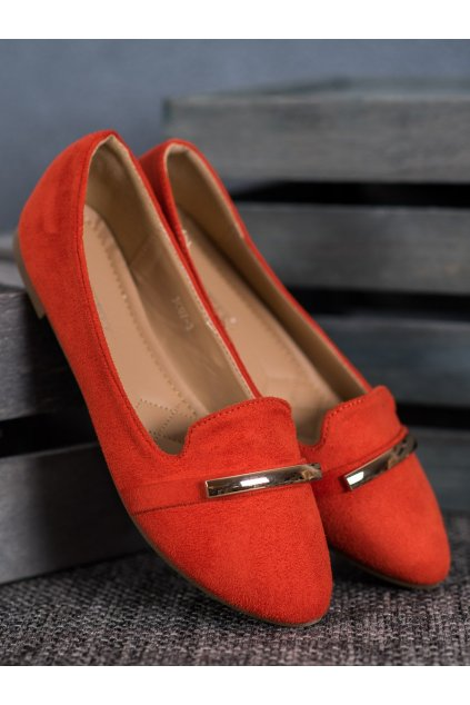 Oranžové dámske balerínky Shelovet NJSK JC07OR