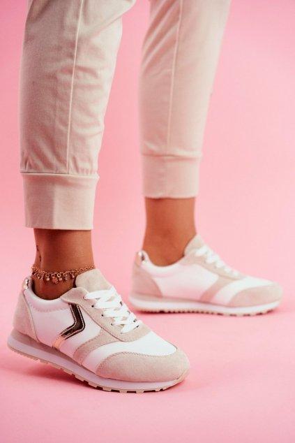 Dámska športová obuv biela Béžové Roulette