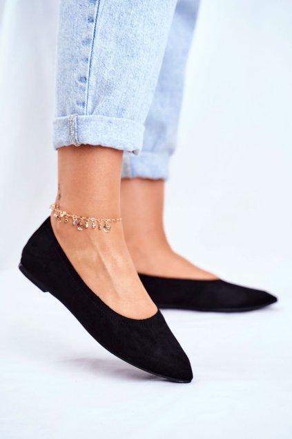 Dámske balerínky farba čierna kód obuvi NK19P BLK