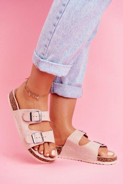 Dámske šľapky farba ružová kód obuvi 20SD21-1732 PINK