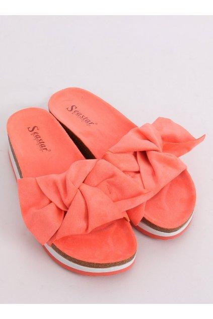 Damske šľapky oranžové SS116P