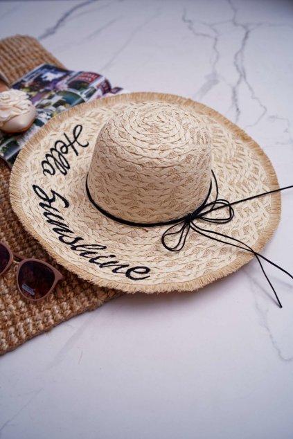 Dámsky slamený klobouk barva slámy Hello Sunshine