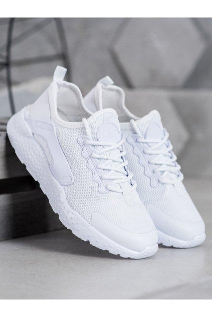 Biele tenisky Shelovet NJSK F18808W