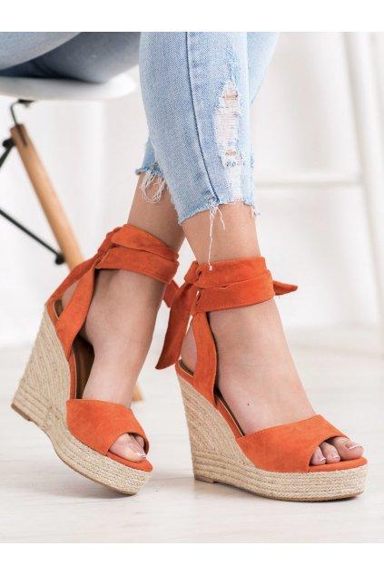 Oranžové sandále na platforme Seastar kod R135OR