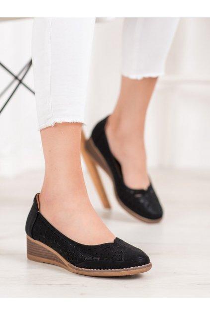 Čierne topánky Vinceza kod XY20-10520B