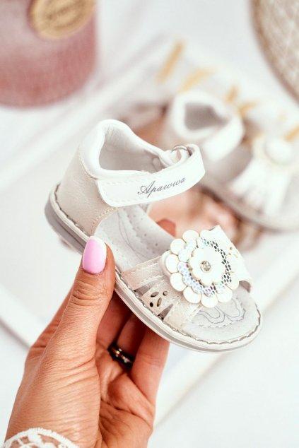 Detské sandále farba biela kód obuvi HX118 WHITE