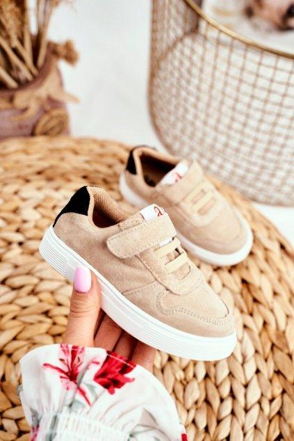 Detské tenisky farba hnedá kód obuvi XC07 BEIGE