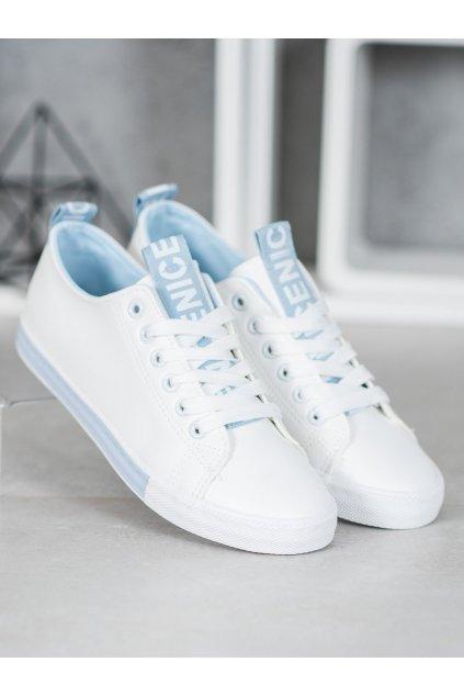 Biele tenisky NJSK CC-17BL