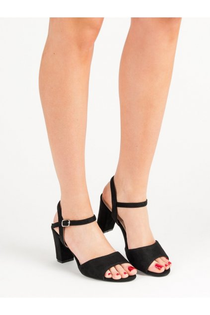 Čierne sandále Filippo NJSK DS777/19B