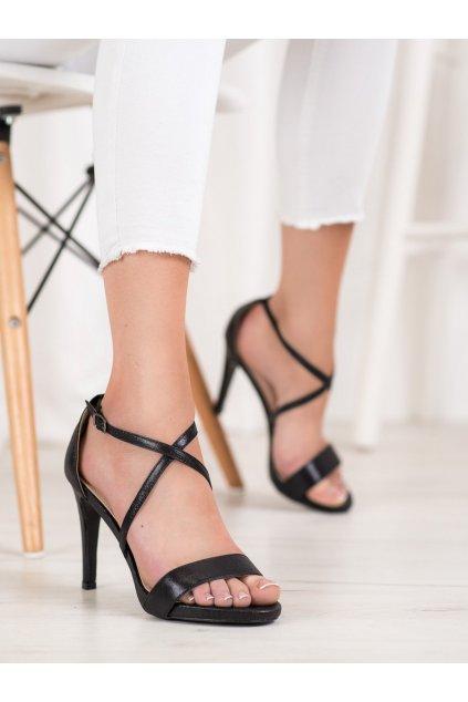 Čierne sandále na podpätku Vinceza kod YQE20-17047B