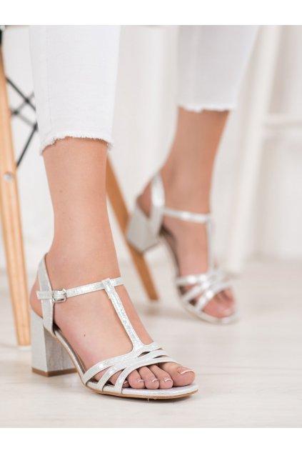 Sivé sandále na podpätku Vinceza kod YQE20-17061S