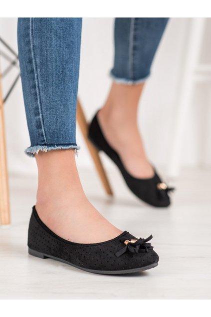 Čierne topánky Vinceza kod BOB20-18018B