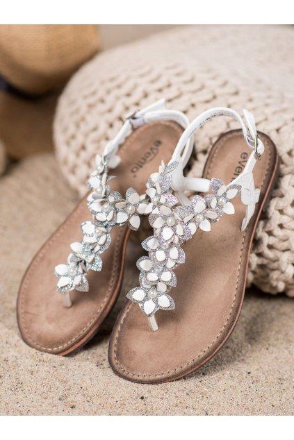 Biele sandále Evento kod 20SD35-1811W