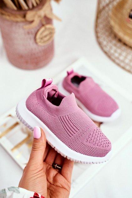 Detské tenisky farba ružová kód obuvi IX40 PINK