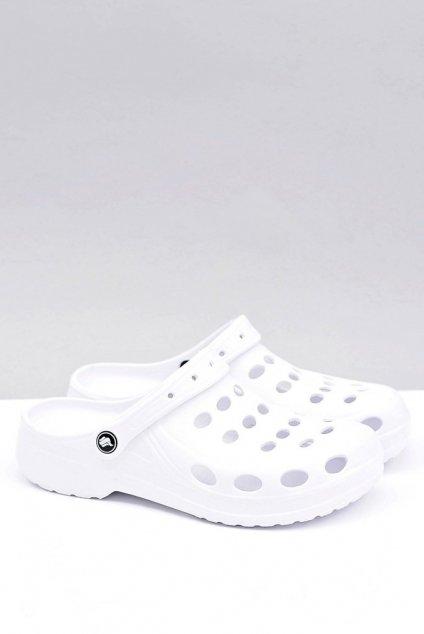 Pánske klasické šľapky biele Crocsy NJSK A-001