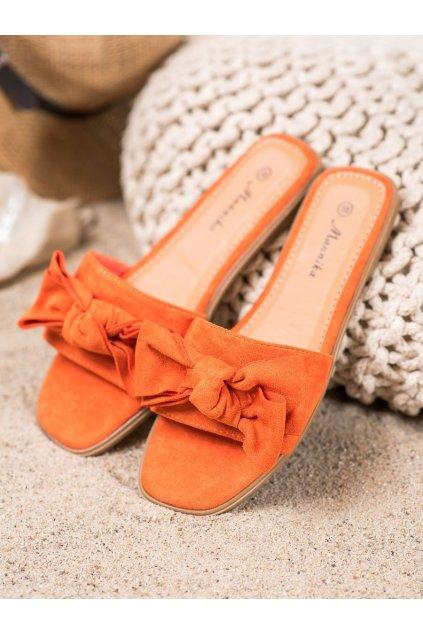 Oranžové topánky Mannika kod WL1607OR