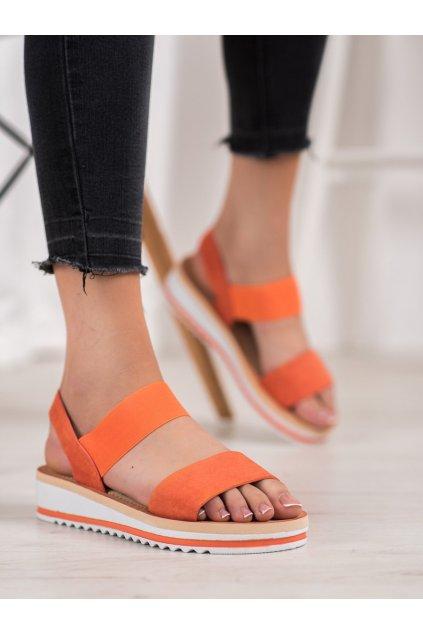 Oranžové sandále Mannika kod E008OR