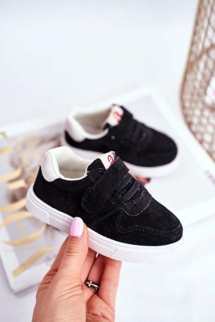 Detské tenisky farba čierna kód obuvi NQ86 NC112 BLK