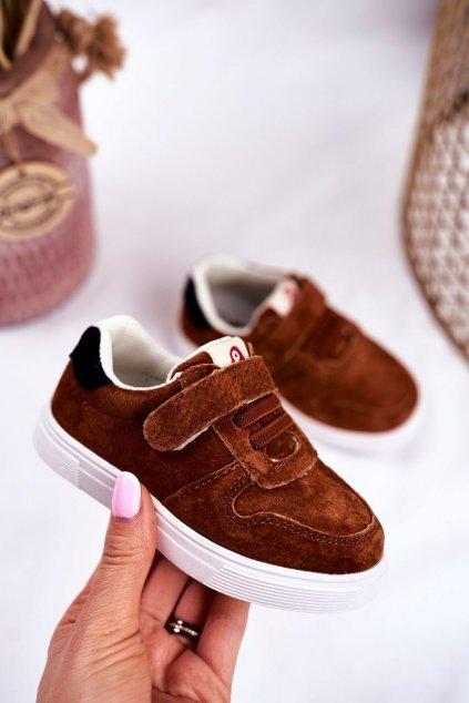 Detské tenisky farba hnedá kód obuvi NQ86 NC112 BROWN