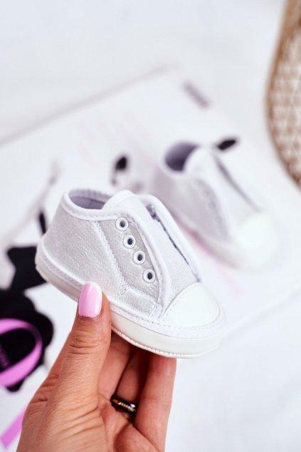 Detské balerínky farba sivá kód obuvi YC185 SILVER